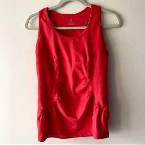 Core Andrea Jovine Coral Tank Top Ruched